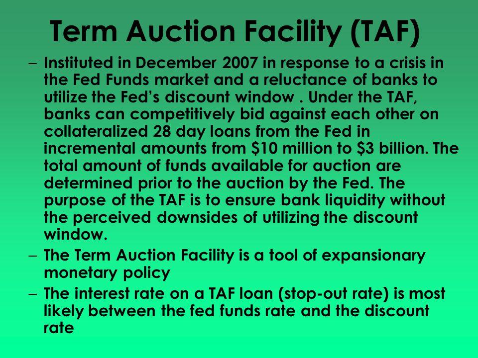 Term Auction Facility (TAF)