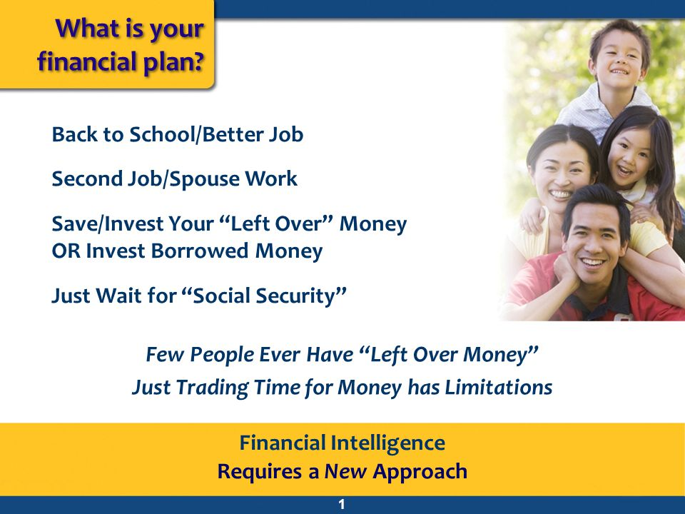 What is your financial plan Back to School/Better Job