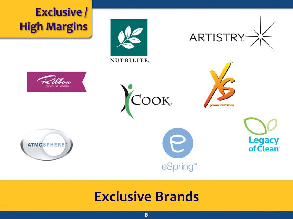 Exclusive / High Margins Exclusive Brands 6