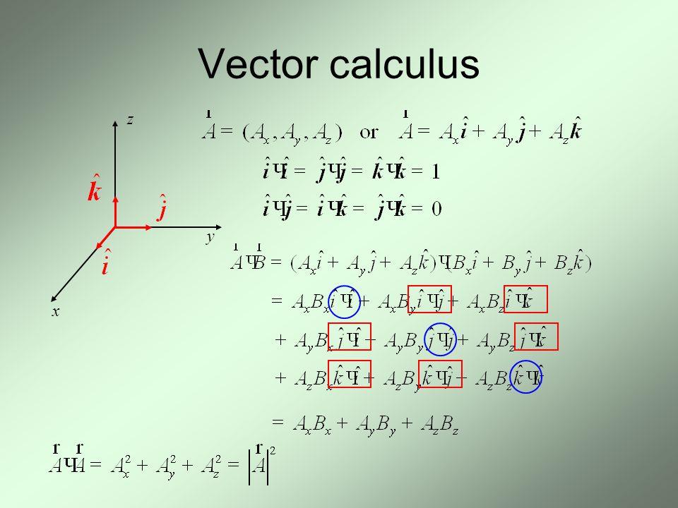 Vector calculus z y x