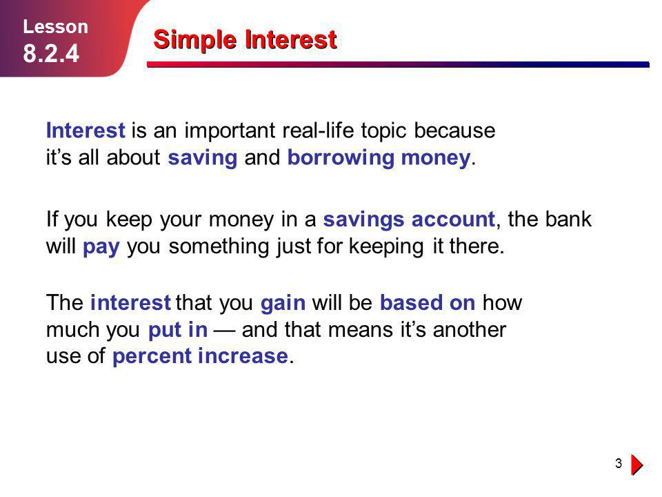 simple interest lesson ppt  simple interest interest is