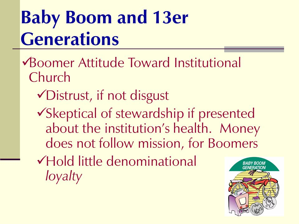 Baby Boom and 13er Generations