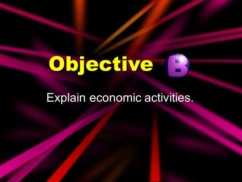 Explain economic activities.