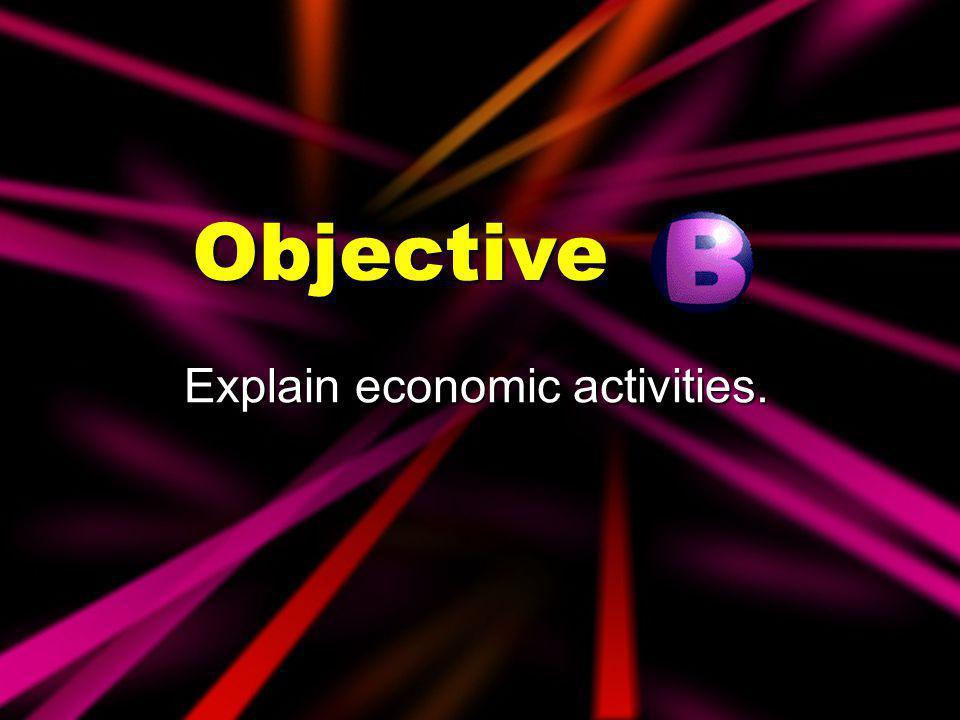 Explain economic activities.