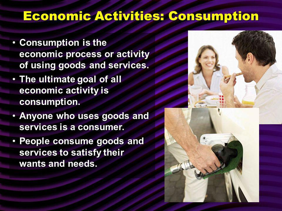 Economic Activities: Consumption