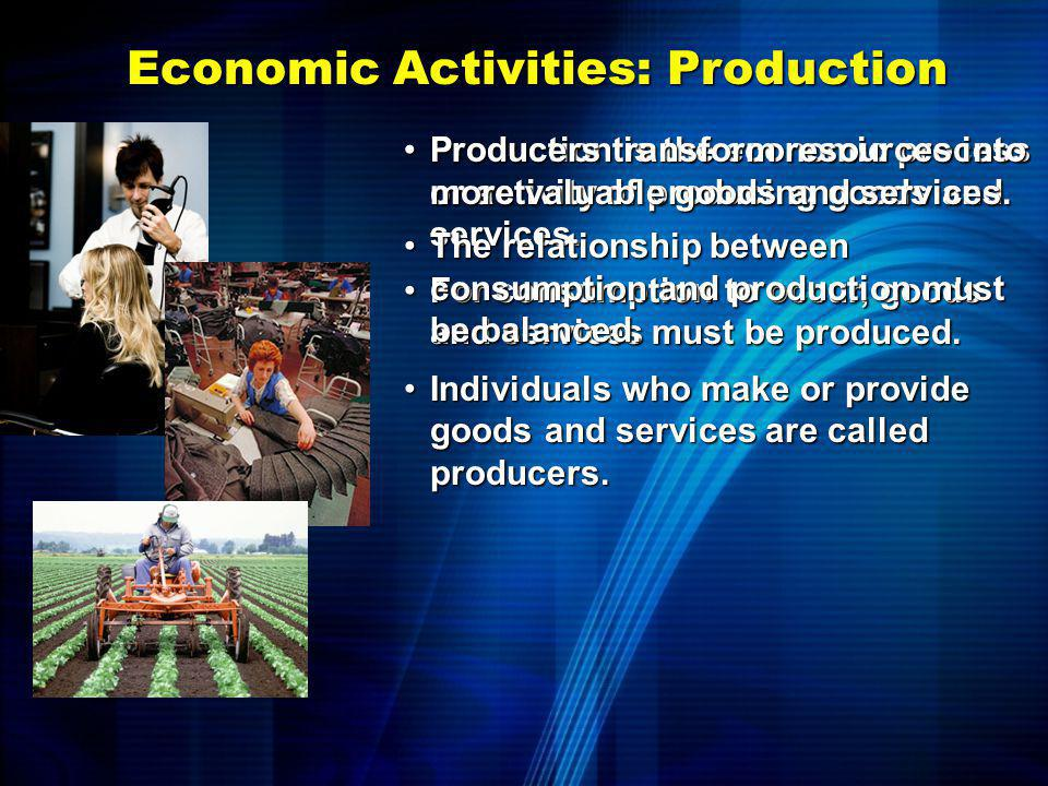 Economic Activities: Production