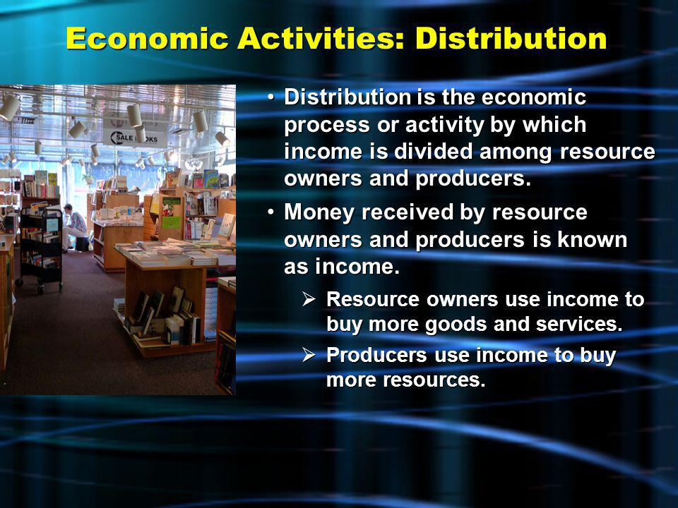 Economic Activities: Distribution