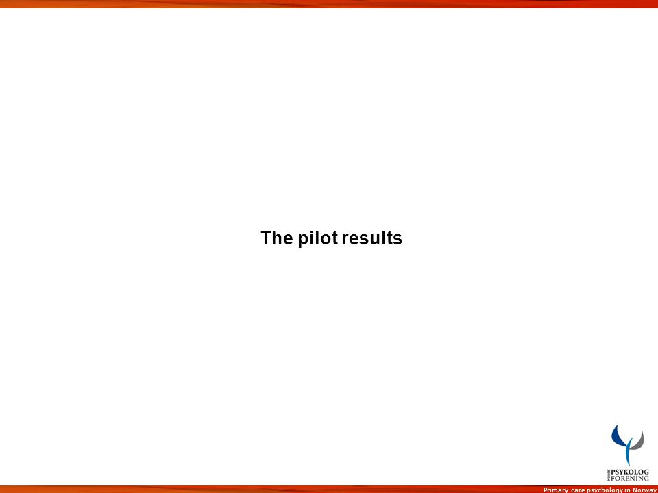 The pilot results