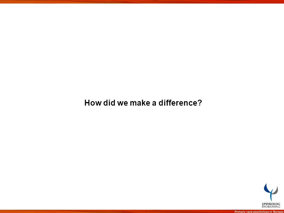 How did we make a difference