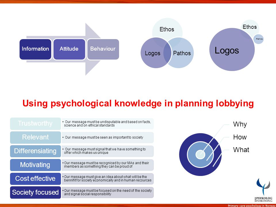 Using psychological knowledge in planning lobbying