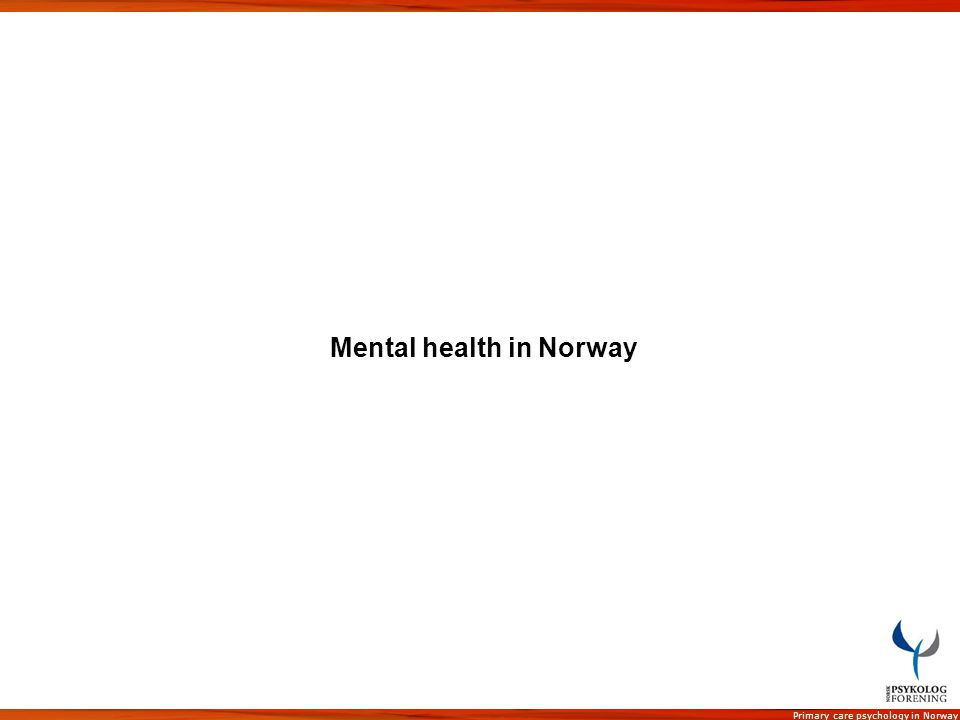 Mental health in Norway
