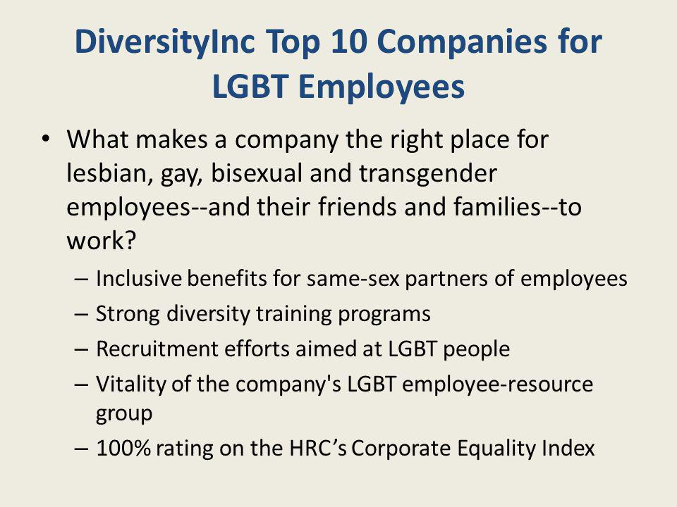 DiversityInc Top 10 Companies for LGBT Employees