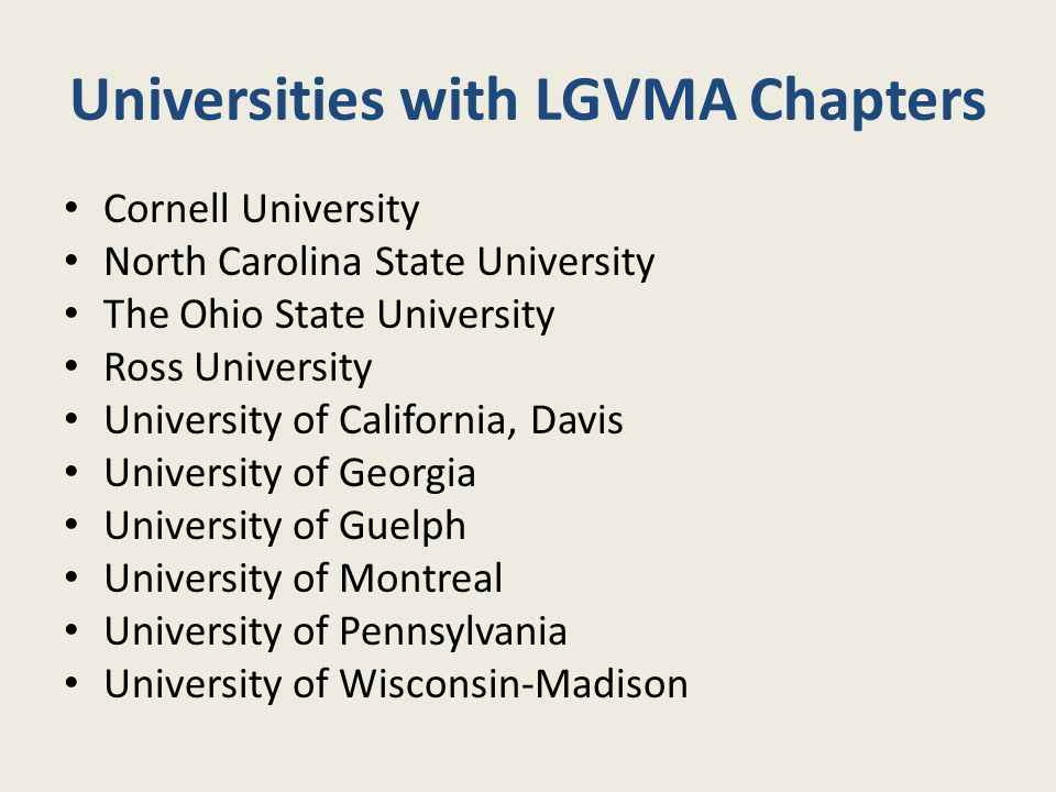 Universities with LGVMA Chapters