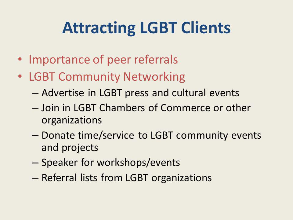 Attracting LGBT Clients