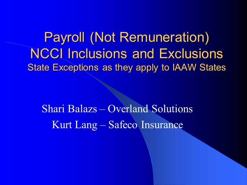 Shari Balazs – Overland Solutions Kurt Lang – Safeco Insurance