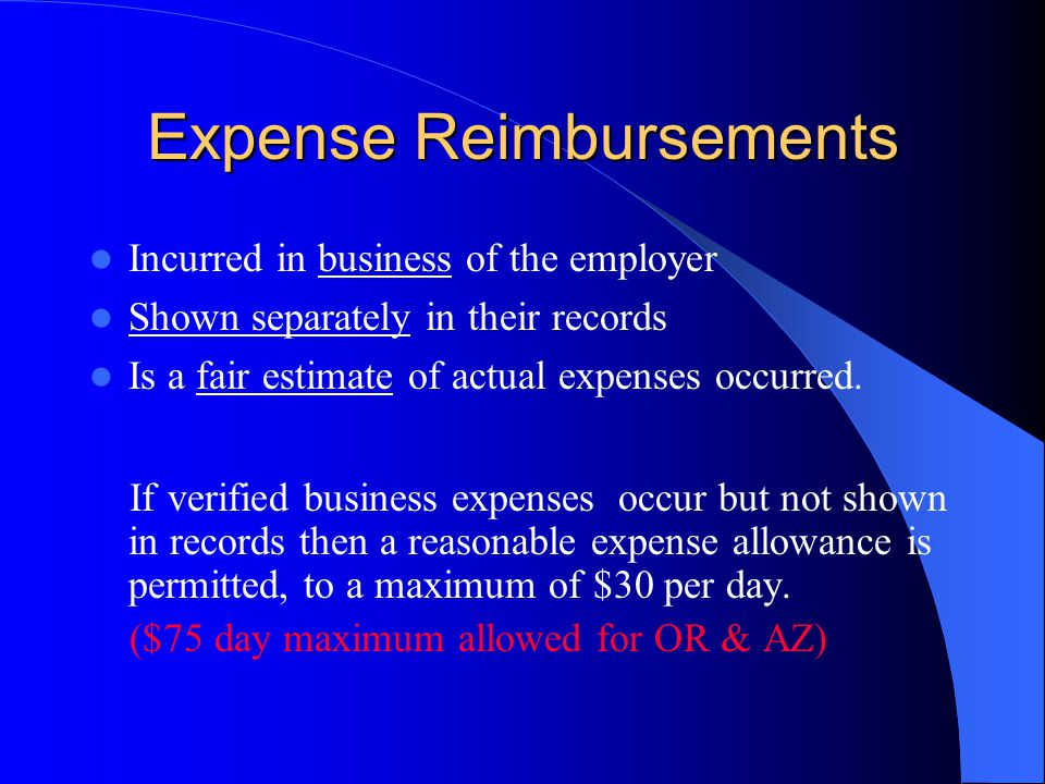 Expense Reimbursements