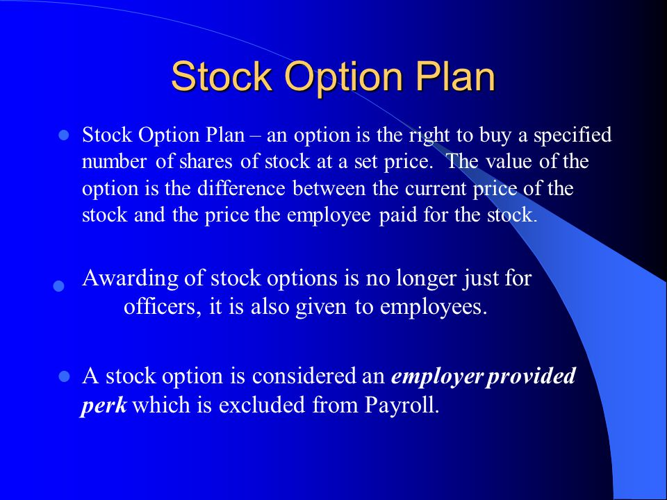 Stock Option Plan