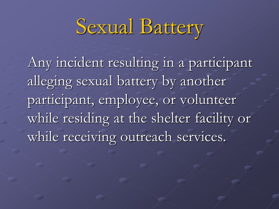 Sexual Battery