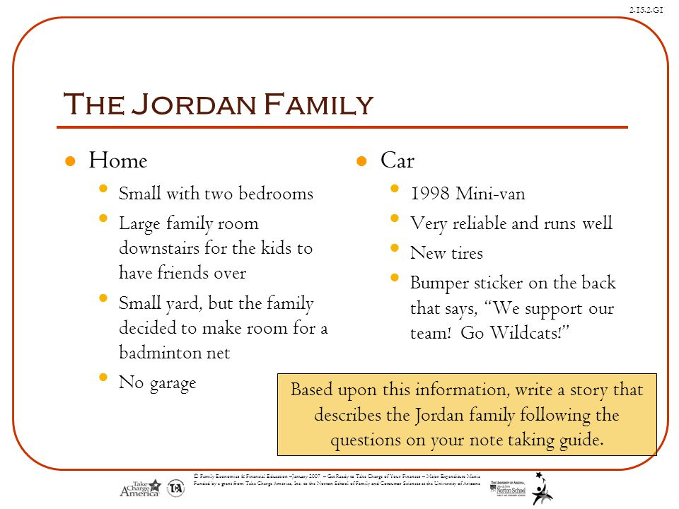 The Jordan Family Home Car Small with two bedrooms
