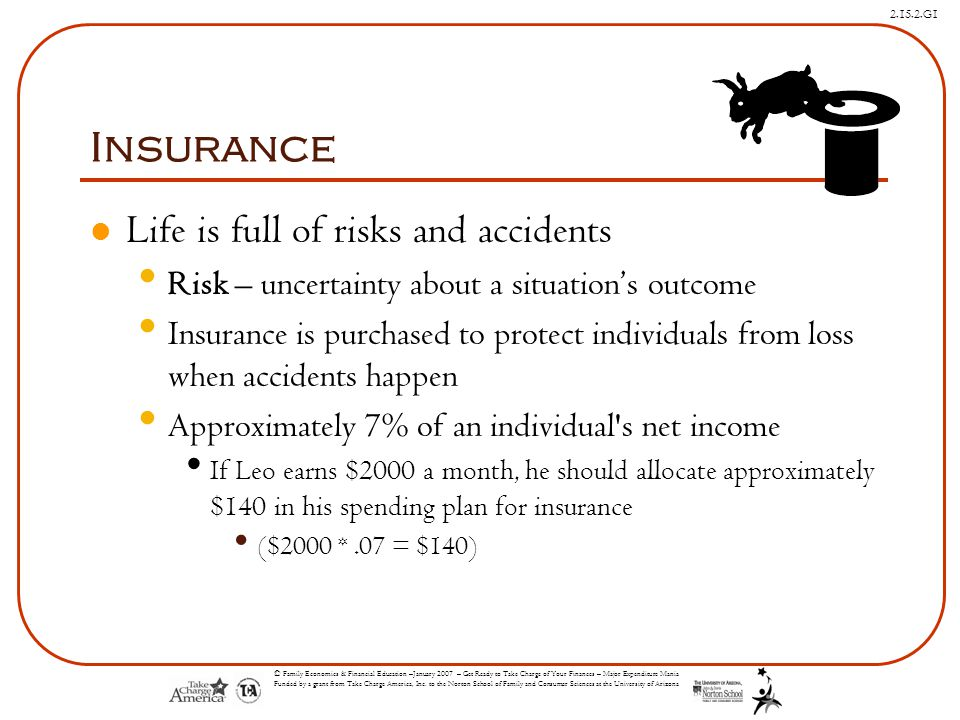Insurance Life is full of risks and accidents