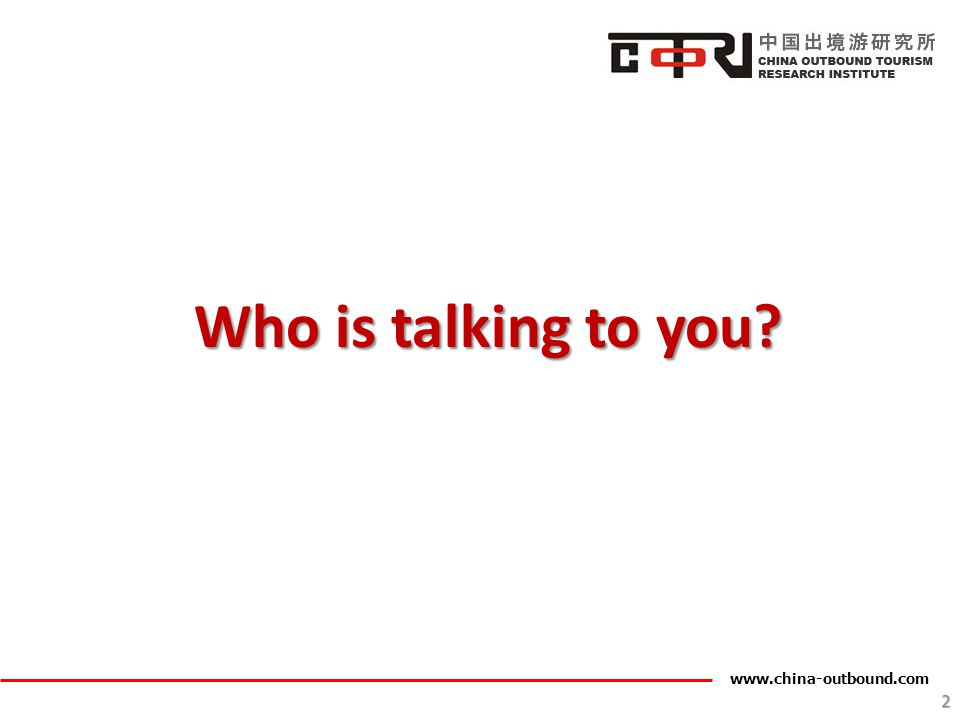 Who is talking to you