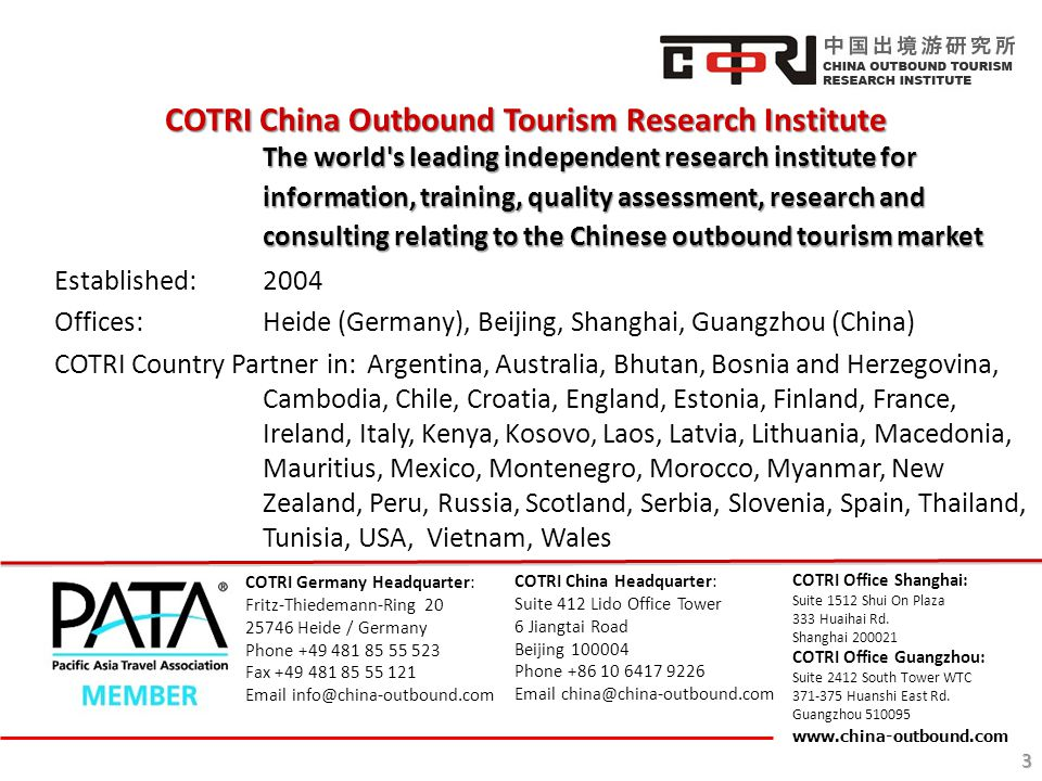 COTRI China Outbound Tourism Research Institute