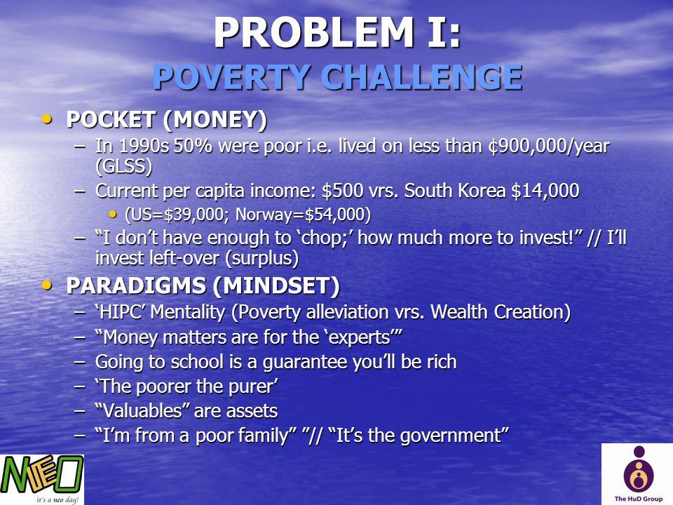 PROBLEM I: POVERTY CHALLENGE