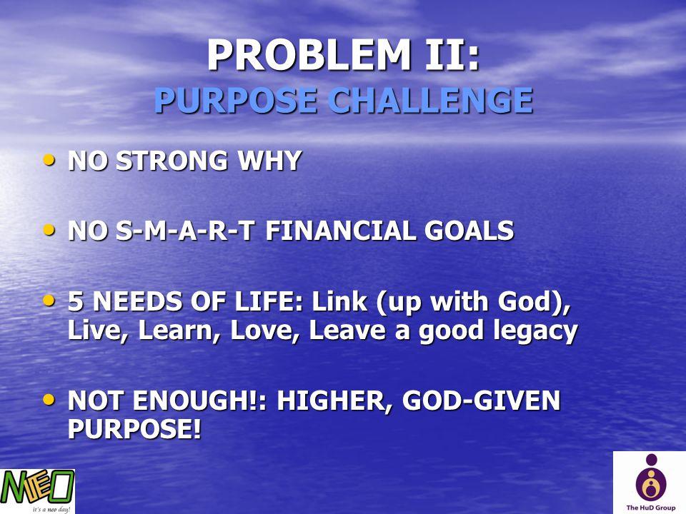PROBLEM II: PURPOSE CHALLENGE