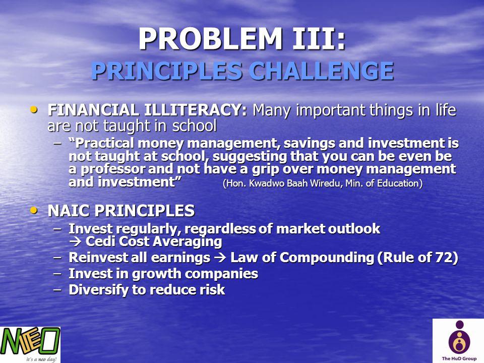 PROBLEM III: PRINCIPLES CHALLENGE
