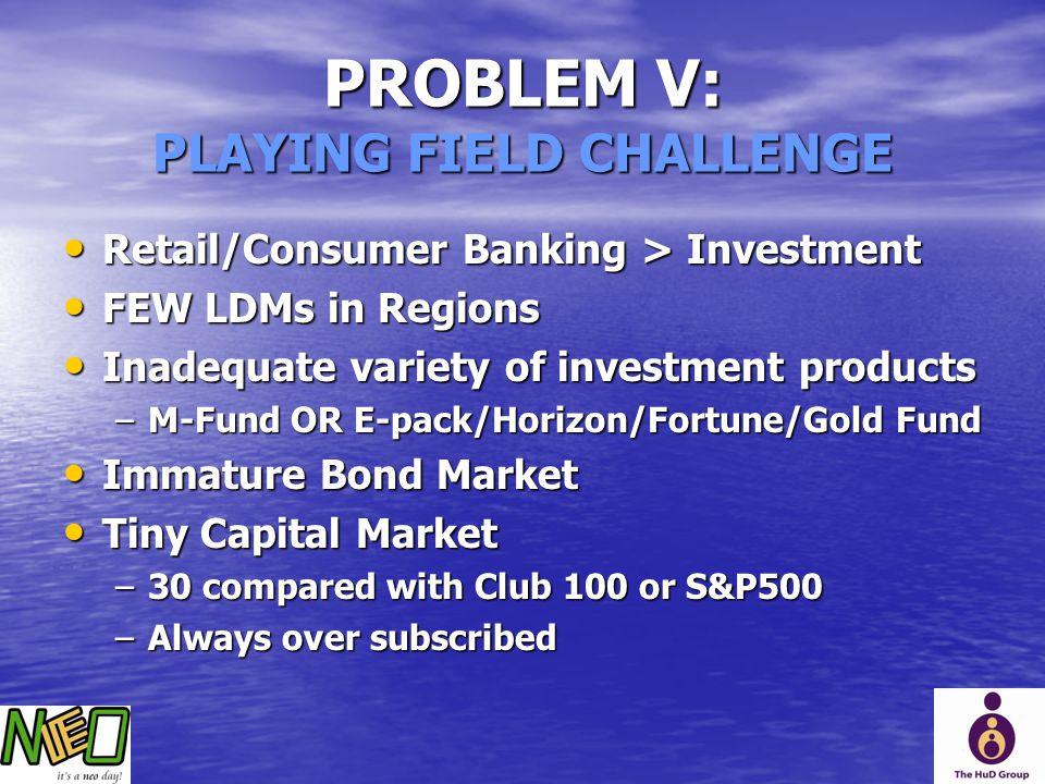 PROBLEM V: PLAYING FIELD CHALLENGE