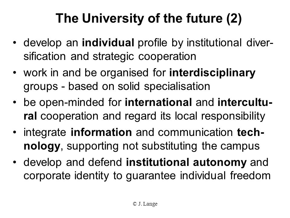 The University of the future (2)
