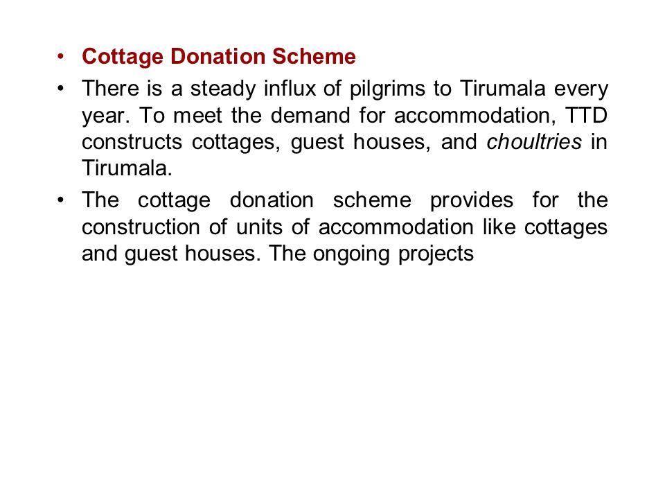 Cottage Donation Scheme