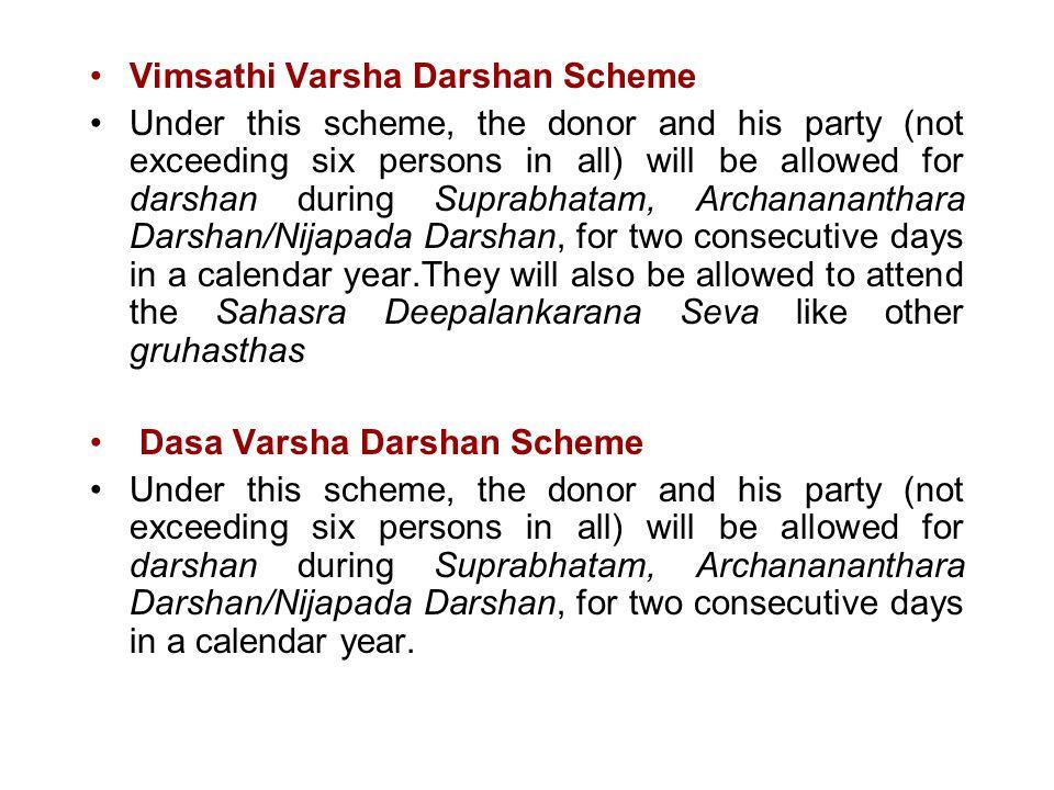 Vimsathi Varsha Darshan Scheme