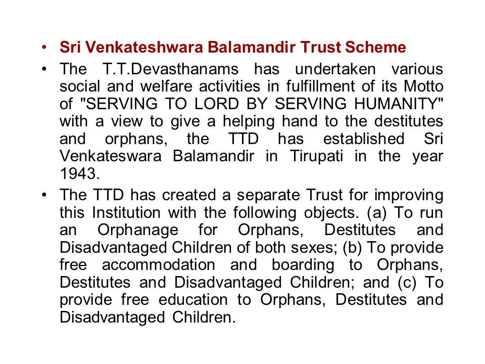 Sri Venkateshwara Balamandir Trust Scheme