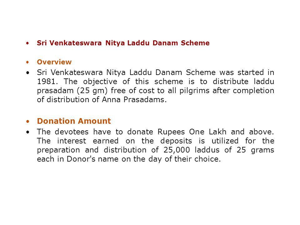 Sri Venkateswara Nitya Laddu Danam Scheme