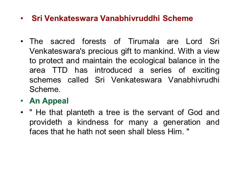 Sri Venkateswara Vanabhivruddhi Scheme