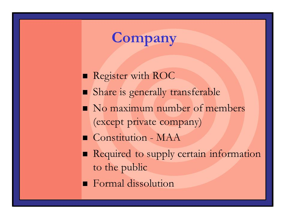 Company Register with ROC Share is generally transferable