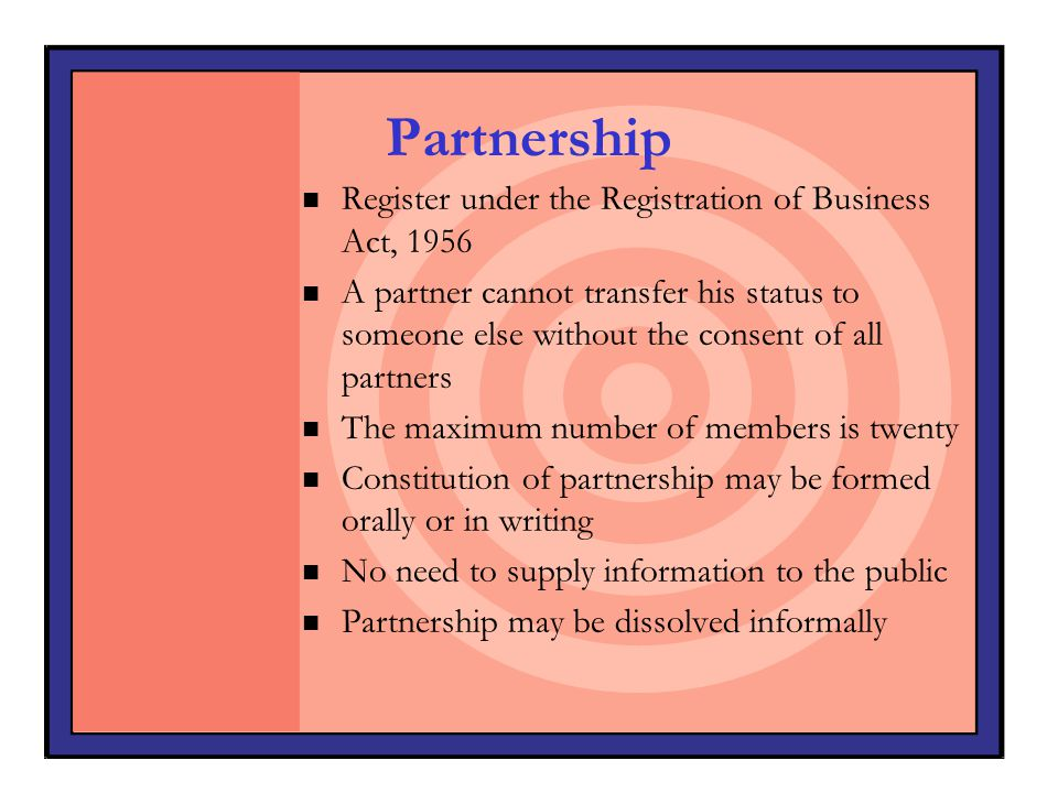 Partnership Register under the Registration of Business Act, 1956