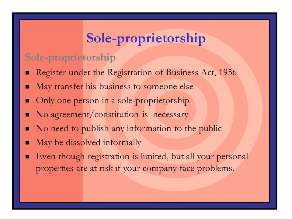 Sole-proprietorship Sole-proprietorship