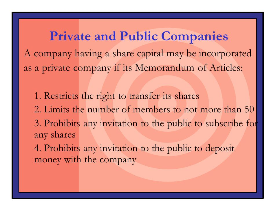 Private and Public Companies