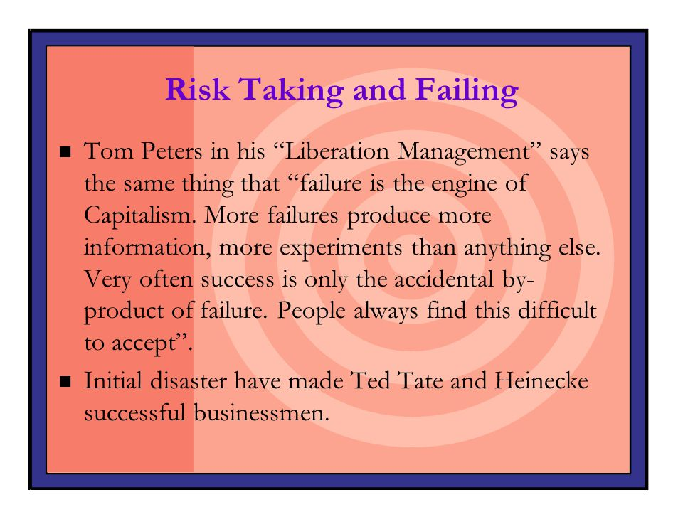 Risk Taking and Failing