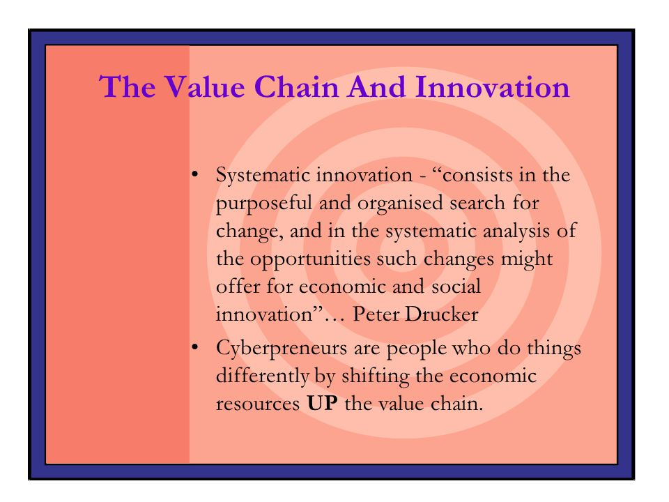 The Value Chain And Innovation