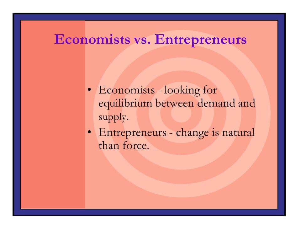 Economists vs. Entrepreneurs