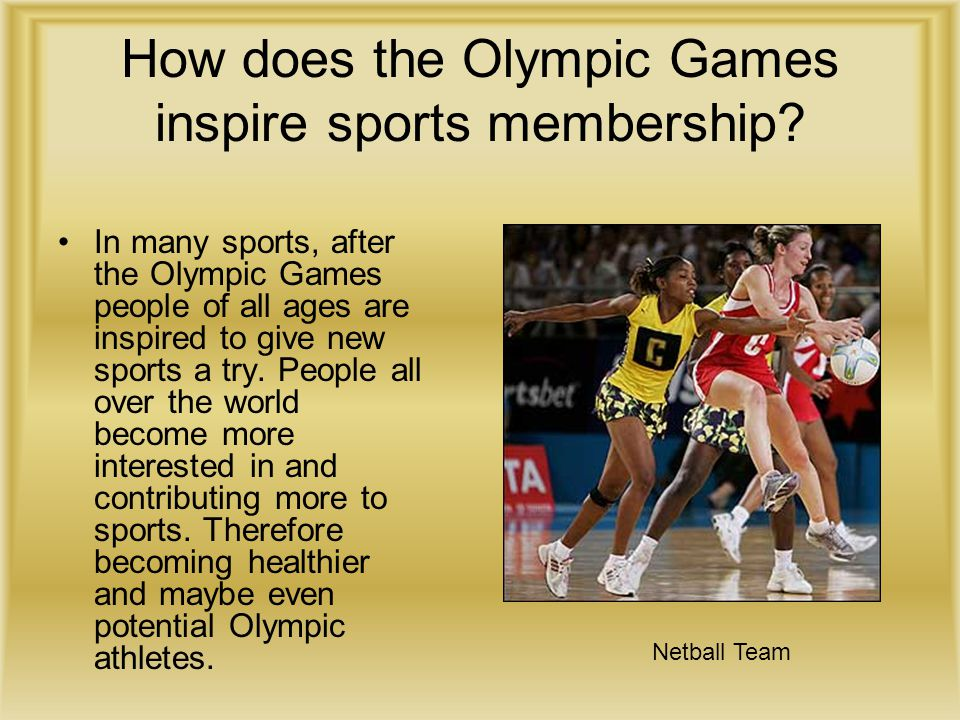 How does the Olympic Games inspire sports membership