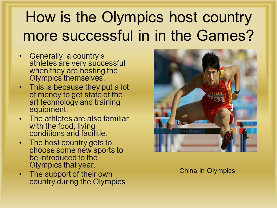 How is the Olympics host country more successful in in the Games