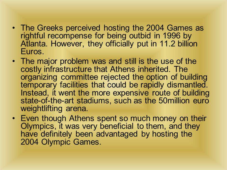 "the social and economic advantages and disadvantages of the olympic games in china Check out our top free essays on advantages and disadvantages of olympic games  free essays on advantages and disadvantages  olympic games"", states that china."