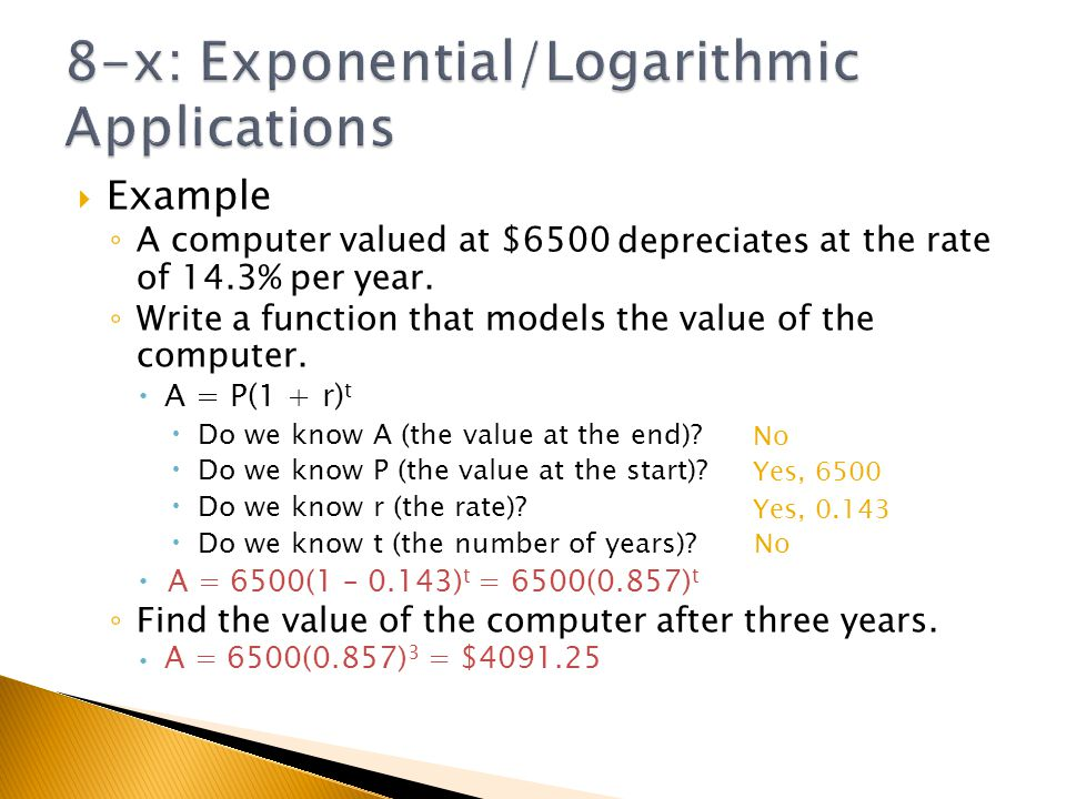 Chapter 8x Applications of Exponential and Logarithmic Functions – Exponential and Logarithmic Functions Worksheets