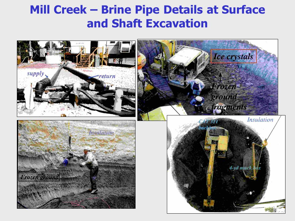 Mill Creek – Brine Pipe Details at Surface and Shaft Excavation