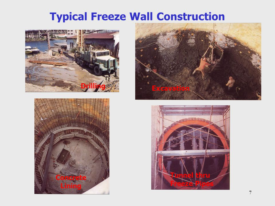 Typical Freeze Wall Construction
