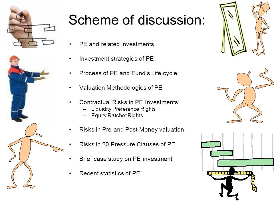 Scheme of discussion: PE and related investments